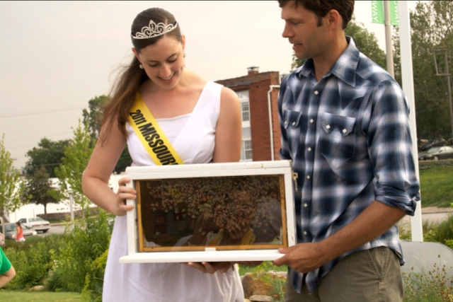 Jarrett Melelnbruch with the Missouri Honey Queen