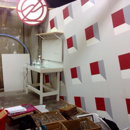 The Zz School Letterpress Shop under construction.